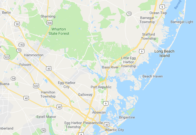 Little Egg Harbor NJ Map